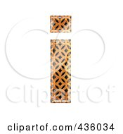 Royalty Free RF Clipart Illustration Of A 3d Patterned Orange Symbol Lowercase Letter I by chrisroll