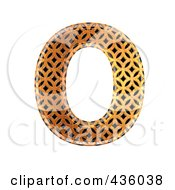Royalty Free RF Clipart Illustration Of A 3d Patterned Orange Symbol Capital Letter O