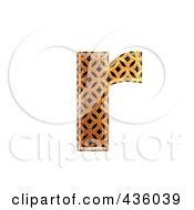 Royalty Free RF Clipart Illustration Of A 3d Patterned Orange Symbol Lowercase Letter R by chrisroll
