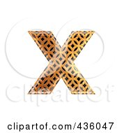 Royalty Free RF Clipart Illustration Of A 3d Patterned Orange Symbol Lowercase Letter X