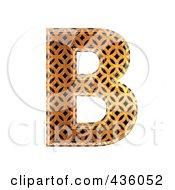 Royalty Free RF Clipart Illustration Of A 3d Patterned Orange Symbol Capital Letter B