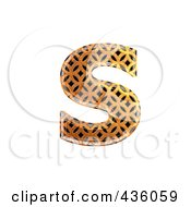 Royalty Free RF Clipart Illustration Of A 3d Patterned Orange Symbol Lowercase Letter S