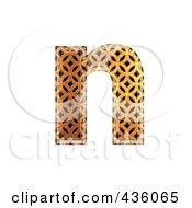 Royalty Free RF Clipart Illustration Of A 3d Patterned Orange Symbol Lowercase Letter N