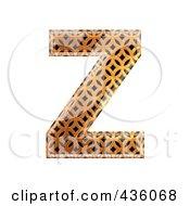 Royalty Free RF Clipart Illustration Of A 3d Patterned Orange Symbol Capital Letter Z