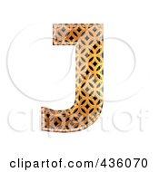 Royalty Free RF Clipart Illustration Of A 3d Patterned Orange Symbol Capital Letter J