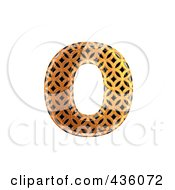 Royalty Free RF Clipart Illustration Of A 3d Patterned Orange Symbol Lowercase Letter O