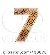 3d Patterned Orange Symbol Number 7