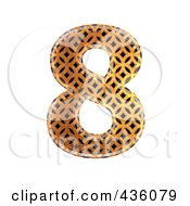 Royalty Free RF Clipart Illustration Of A 3d Patterned Orange Symbol Number 8