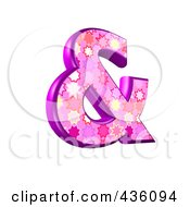 Royalty Free RF Clipart Illustration Of A 3d Pink Burst Symbol Ampersand