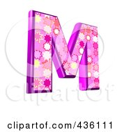 3d Pink Burst Symbol Capital Letter M by chrisroll