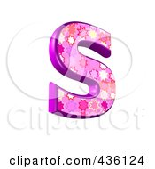 3d Pink Burst Symbol Capital Letter S by chrisroll
