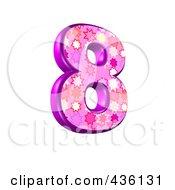 Royalty Free RF Clipart Illustration Of A 3d Pink Burst Symbol Number 8