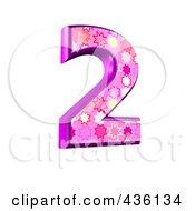 3d Pink Burst Symbol Number 2