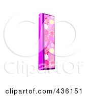 Royalty Free RF Clipart Illustration Of A 3d Pink Burst Symbol Lowercase Letter L by chrisroll