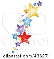 Royalty Free RF Clipart Illustration Of Colorful Falling Stars
