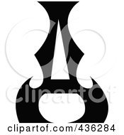 Royalty Free RF Clipart Illustration Of A Black Ace
