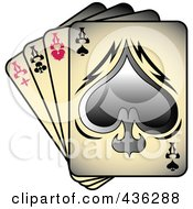 Royalty Free RF Clipart Illustration Of Gradient Tattoo Tattoo Art Tattoo Designsfour Of A Kind Aces Playing Cards