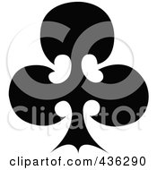 Royalty Free RF Clipart Illustration Of A Black Club by Andy Nortnik