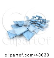 Clipart Illustration Of Shiny Blue 3d Blocks Floating