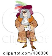 Royalty Free RF Clipart Illustration Of A Male Pirate With A Cane by Andy Nortnik