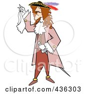 Royalty Free RF Clipart Illustration Of A Male Pirate Holding A Handkerchief by Andy Nortnik