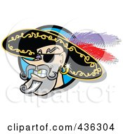 Royalty Free RF Clipart Illustration Of A Male Pirate Smiling Logo by Andy Nortnik