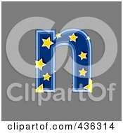 Royalty Free RF Clipart Illustration Of A 3d Blue Starry Symbol Lowercase Letter N