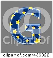 Royalty Free RF Clipart Illustration Of A 3d Blue Starry Symbol Capital Letter G