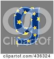 Royalty Free RF Clipart Illustration Of A 3d Blue Starry Symbol Lowercase Letter G