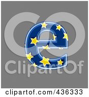 Royalty Free RF Clipart Illustration Of A 3d Blue Starry Symbol Lowercase Letter E