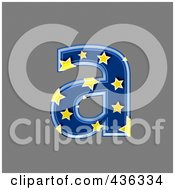 Royalty Free RF Clipart Illustration Of A 3d Blue Starry Symbol Lowercase Letter A