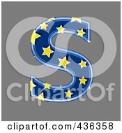 Royalty Free RF Clipart Illustration Of A 3d Blue Starry Symbol Capital Letter S