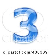 Royalty Free RF Clipart Illustration Of A 3d Blue Symbol Number 3