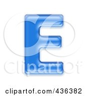 Royalty Free RF Clipart Illustration Of A 3d Blue Symbol Capital Letter E by chrisroll