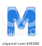 Capital Letter M 3d Blue Symbol Capital Letter