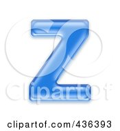Royalty Free RF Clipart Illustration Of A 3d Blue Symbol Capital Letter Z