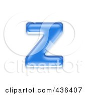 Royalty Free RF Clipart Illustration Of A 3d Blue Symbol Lowercase Letter Z by chrisroll