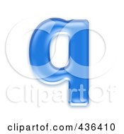 Royalty Free RF Clipart Illustration Of A 3d Blue Symbol Lowercase Letter Q