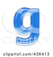 Royalty Free RF Clipart Illustration Of A 3d Blue Symbol Lowercase Letter G by chrisroll