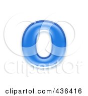 Royalty Free RF Clipart Illustration Of A 3d Blue Symbol Lowercase Letter O by chrisroll