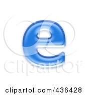 Royalty Free RF Clipart Illustration Of A 3d Blue Symbol Lowercase Letter E by chrisroll