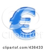 Royalty Free RF Clipart Illustration Of A 3d Blue Symbol Euro