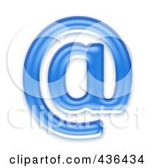 Royalty Free RF Clipart Illustration Of A 3d Blue Symbol Email At Arobase
