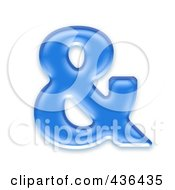 Royalty Free RF Clipart Illustration Of A 3d Blue Symbol Ampersand by chrisroll