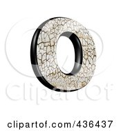 Royalty Free RF Clipart Illustration Of A 3d Cracked Earth Symbol Capital Letter O