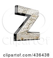 Royalty Free RF Clipart Illustration Of A 3d Cracked Earth Symbol Capital Letter Z by chrisroll