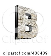 Royalty Free RF Clipart Illustration Of A 3d Cracked Earth Symbol Capital Letter B by chrisroll