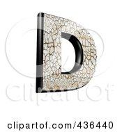 Royalty Free RF Clipart Illustration Of A 3d Cracked Earth Symbol Capital Letter D by chrisroll