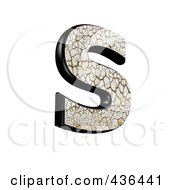 Royalty Free RF Clipart Illustration Of A 3d Cracked Earth Symbol Capital Letter S by chrisroll