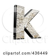 Royalty Free RF Clipart Illustration Of A 3d Cracked Earth Symbol Capital Letter K by chrisroll